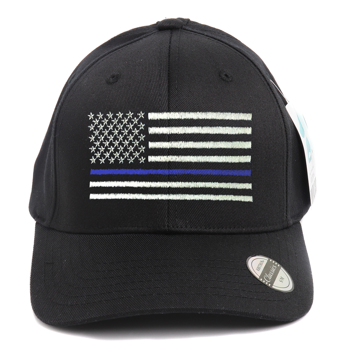 Thin Blue Line Flag Ponytail Spandex Headband Hat