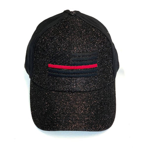 New Thin Red Line Women's Glitter & Cotton Ponytail Hat
