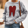 Plaid Tooth Sweatshirt