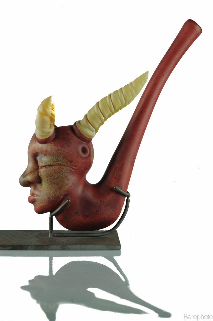 "Bishop Glass ""Shamanic Sherlock"" Sculptural Functional"