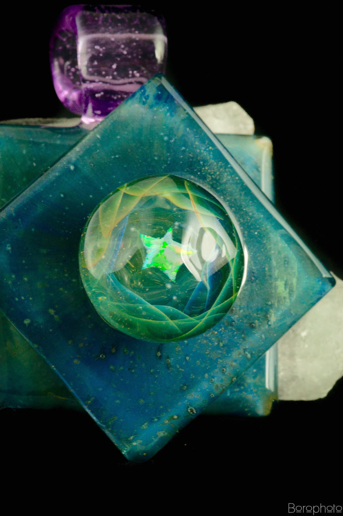"Cowboy x Northern Lights ""Rippling Space-Glass"" Pendant Collaboration"