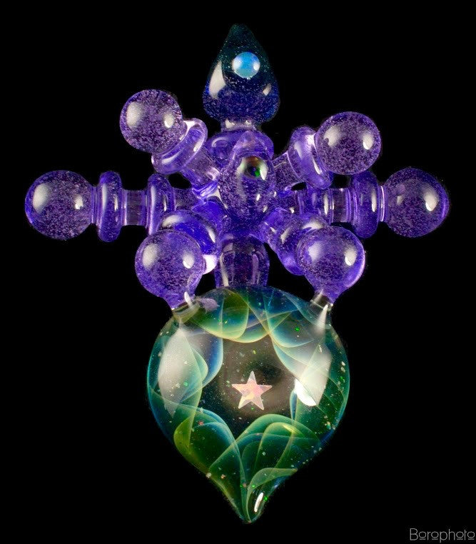 "Northern Lights x THETA Glass, aka, Umetsu Satoshi ""Purple Passion"" Pendant Collaboration"