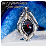 "Big Z x Dylan Wallace ""Blood-Moon"" Eclipse Space-Scene Pendant Collaboration"
