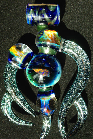 Sasha Hess x Turtley Awesome Glass x Baker, The Glass Maker Triple-Collaboration Pendant