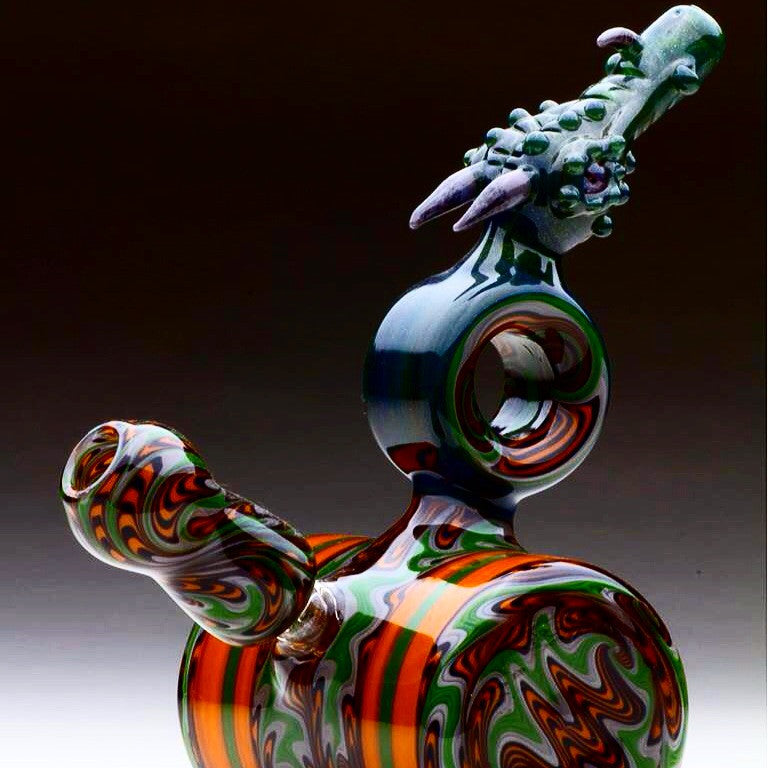"Upgrade Glass x Shuhbuh Drury x Reverend Morse ""Puff, The Magic Dragon"" Functional Triple Collab #1"