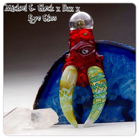 "Michael G. Check x Rye Glass x Dux Glass ""Tuskan Invader"" #1 Triple Collaboration"