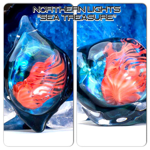 "Northern Lights Rippling Water ""Treasure Of The Sea"" Pendant"