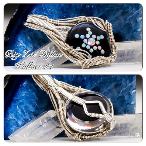 "Big Z x Dylan Wallace ""Opal-Tech Amulet"" WireWrap Pendant Collaboration"