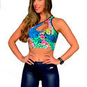 Cropped Gota Estampado