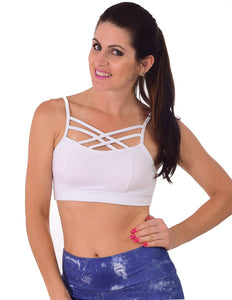TOP FITNESS STRAPPY BRA - FITTP018