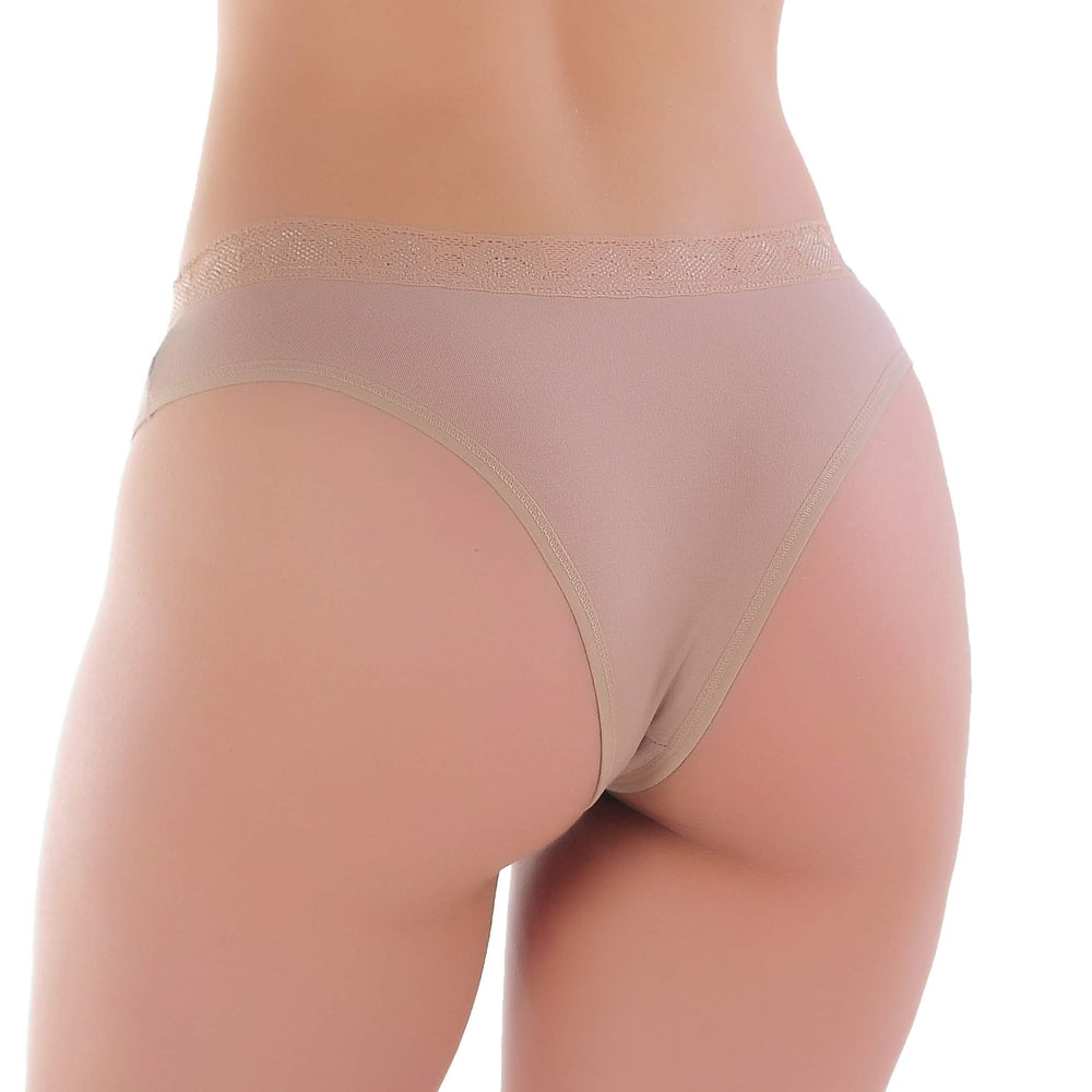Tanga Básica Cotton com Renda | 1545