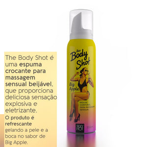 Body Shot Big Apple- Espuma Crocante para Massagem Sensual Beijável