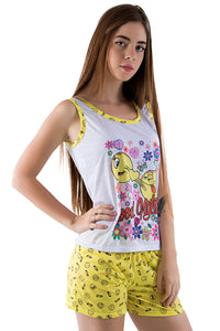 BabyDoll Estampa Emotion Ref.217 Amarelo