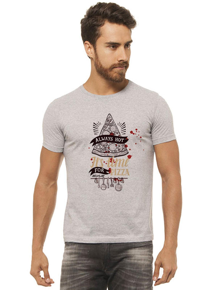 Camiseta Always Hot Cinza Mescla Estampada