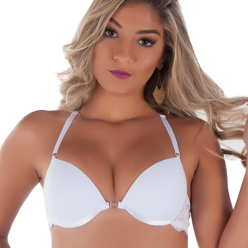 Sutiã Strappy Tira nas Costas e Fecho Frontal Push UP | 4122