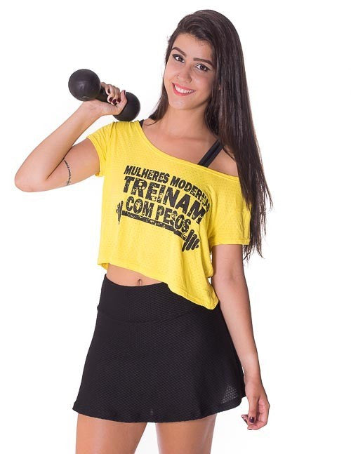 Blusas Fitness - CROPPED FITNESS