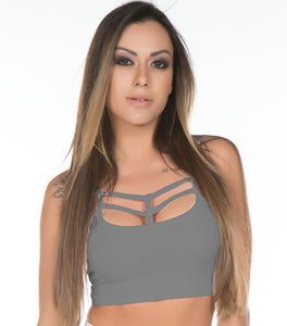 Top Fitness Plus Size Strappy