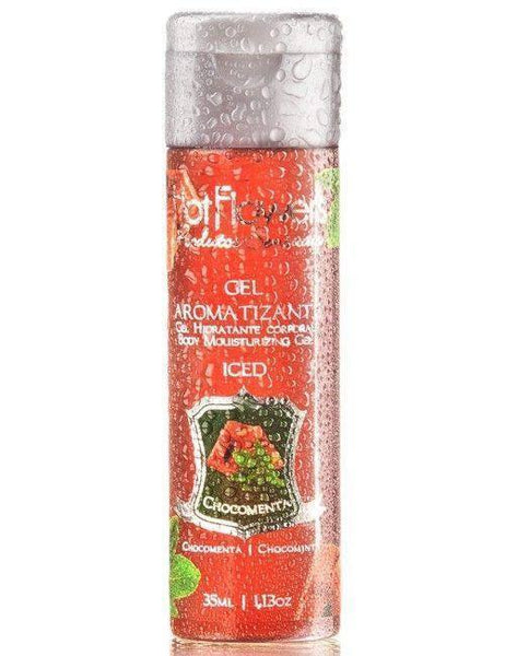 Comestiveis Sex Shop-Gel Aromatizante Iced Chocomenta - 35 ml