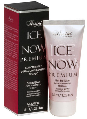 Comestiveis Sex Shop - ORAL ICE NOW MORANGO PREMIUM 35ML