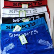 Cuecas - Kit Com 5 Cuecas Box Importadas SPORTS | Boxer Confortavel