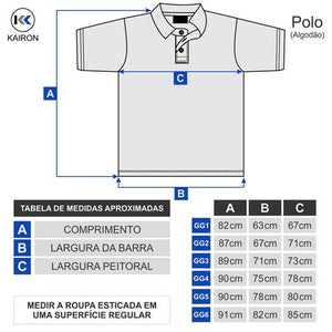 Camiseta Polo Plus Size