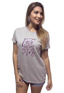 T-Shirt Arimlap Mescla Love Is The air