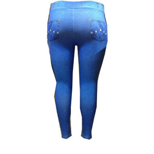 Moda Fitness Plus Size - Calça Estampa Jeans Plus Size 1