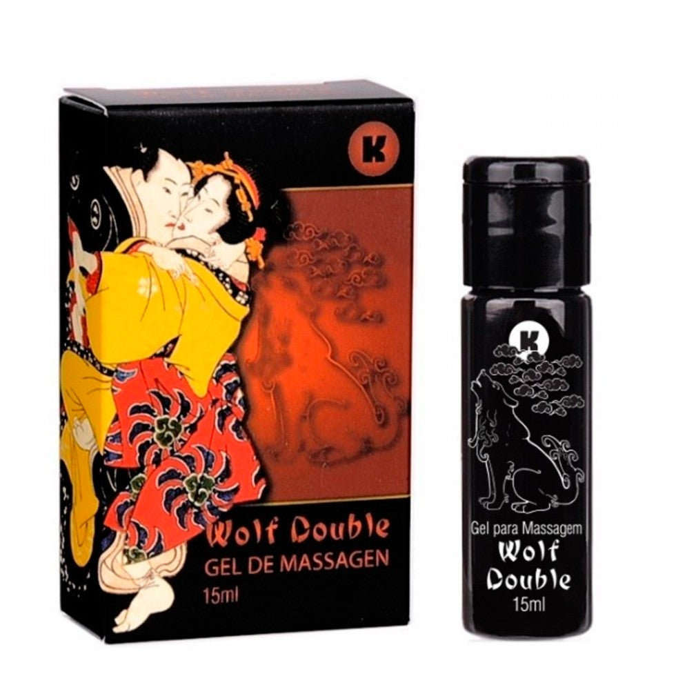 Oleos E Cremes Sex Shop - Exitante Em Gel WOLF - DOUBLE 15ml.