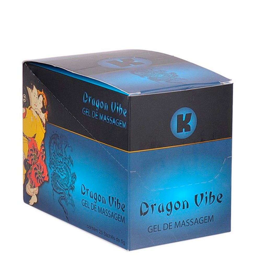 Oleos E Cremes Sex Shop - Gel Dragon VIBE 5g. - Caixa Com 25 Saches