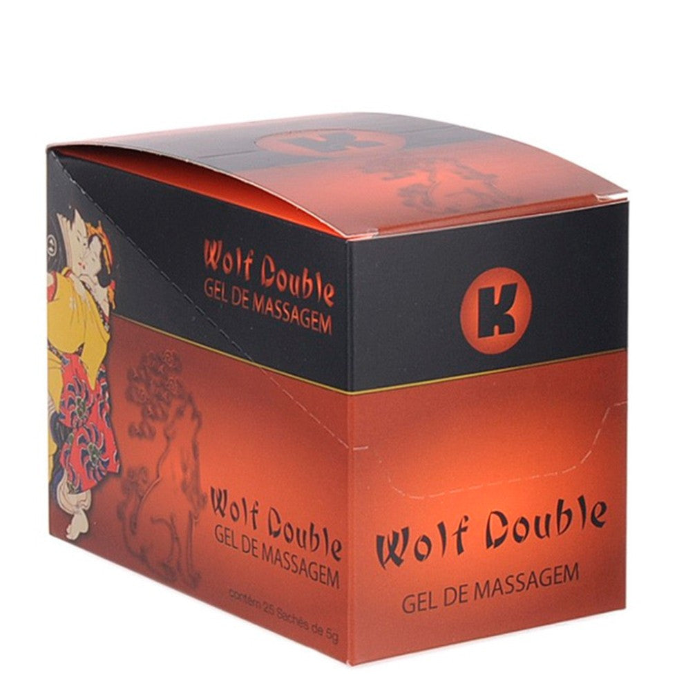 Oleos E Cremes Sex Shop - Gel WOLF - DOUBLE - Exitante - Cx - 25 Saches