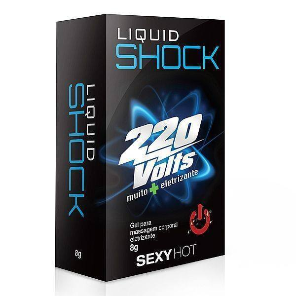 Oleos e Cremes Sex Shop-Liquid Shock 220 Volts 8g