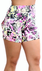 Short Fitness - Short Saia estampado -   - 1