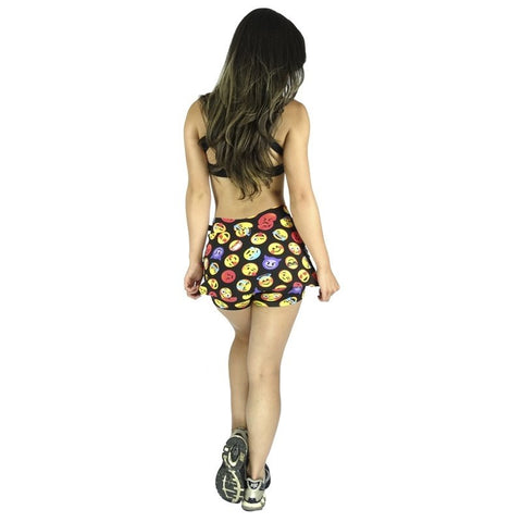 Short Fitness - Short Saia Estampado