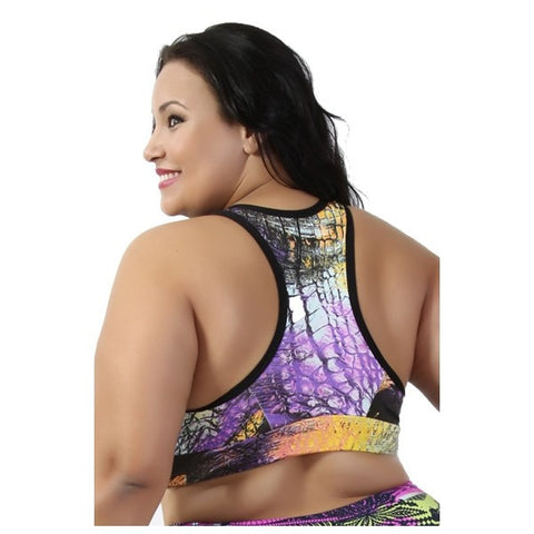 Tops Fitness - Kit 5 Tops Fitness  Plus Size M 3 Tam 44 Ate 58 Estampado