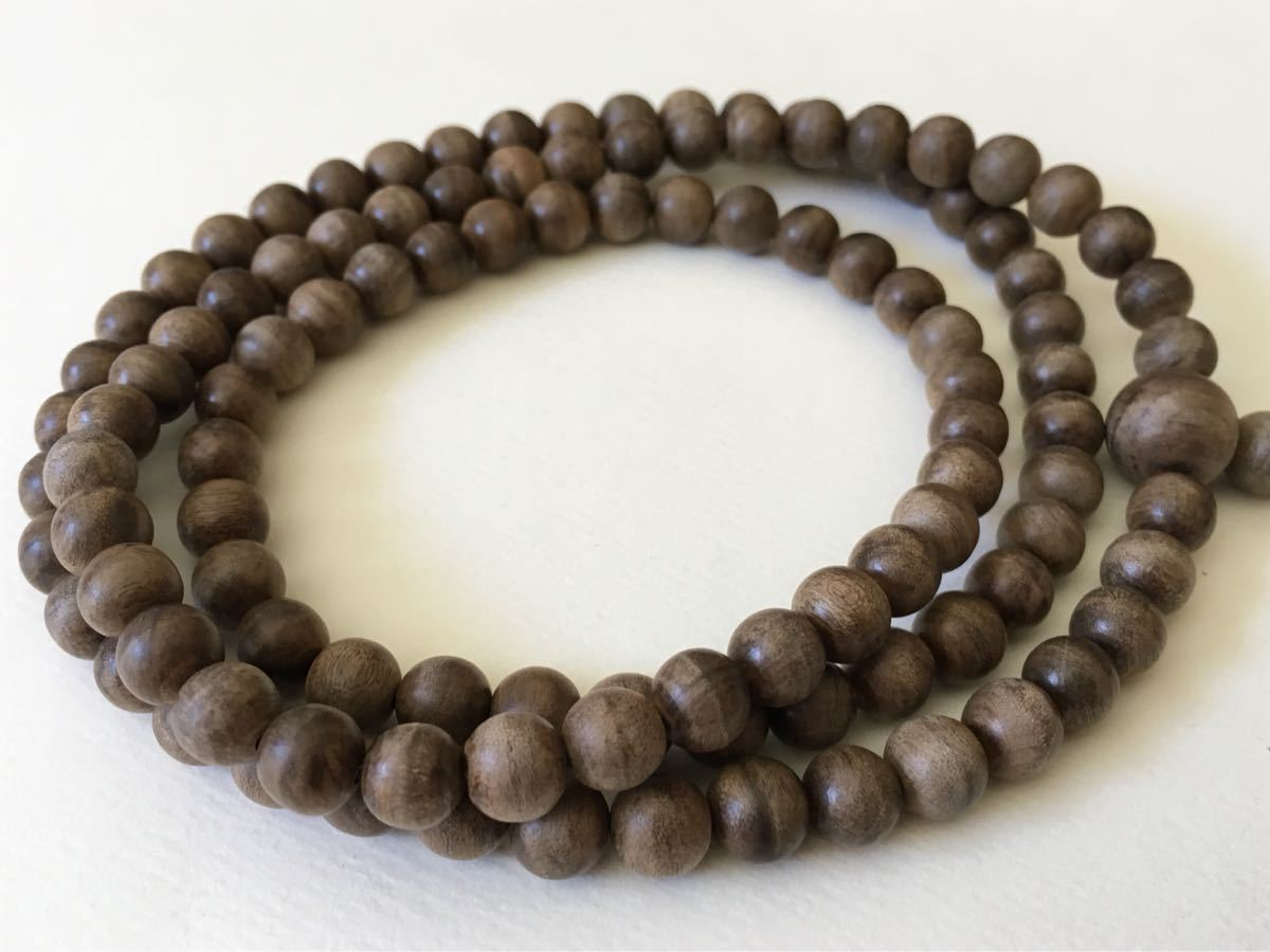 Rescue a damaged 108 Agarwood  mala - an attempt to repair