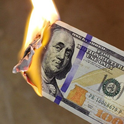 Why are they burning money?