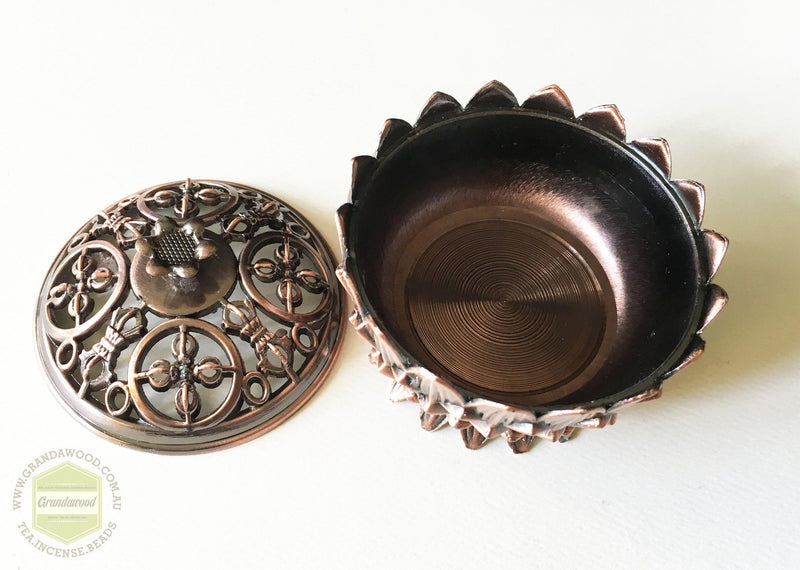 Accessories Incense burner- Metal lotus