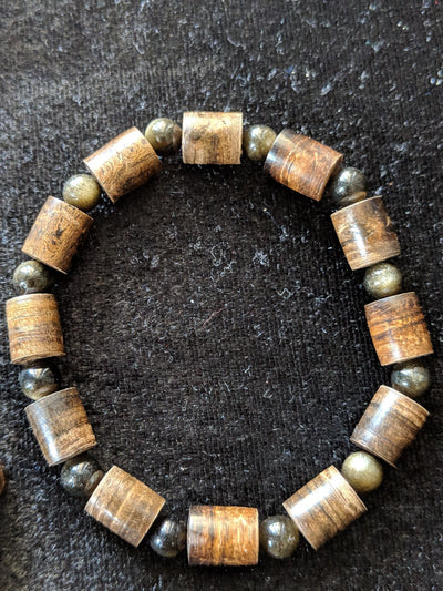*New* Sinking Agarwood Bracelet with Obsidian or Amber and Blue Lapis Lazuli- The Protection and The Callmer - Grandawood- Agarwood Australia