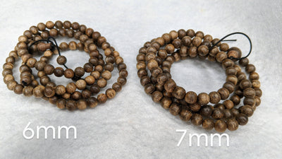 Beads 1 x 6mm 9g and 1 x 7mm 14g The Wiseman , 108 mala made from Wild Agarwood from a small village