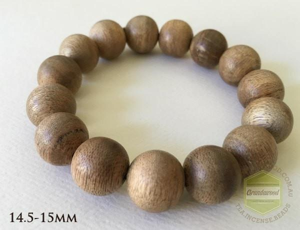 Vietnamese Cultivated Agarwood Bracelet bead size 15 mm-19 mm - Grandawood- Agarwood Australia