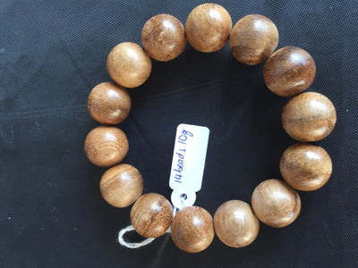 Beads 16mm 14 beads 10g *New* Wild Saba Young Agarwood Bracelet