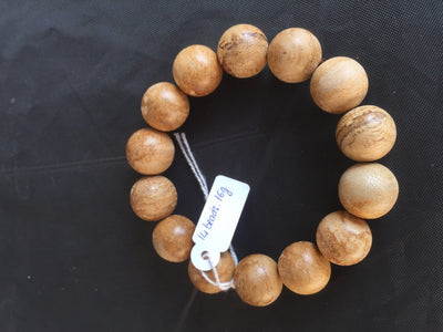 Beads 16mm 14 beads 16g *New* Wild Saba Young Agarwood Bracelet