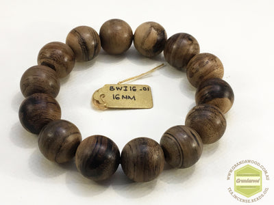 Genuine Indonesia Wild Agarwood bracelet 16mm over 20g - Grandawood- Agarwood Australia