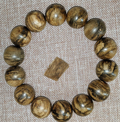 Beads 24g The Marble Trilogy - Wild Borneo Agarwood Bracelet - Number 2, and Number 3