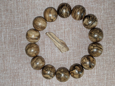 Beads 25g The Marble Trilogy - Wild Borneo Agarwood Bracelet - Number 2, and Number 3