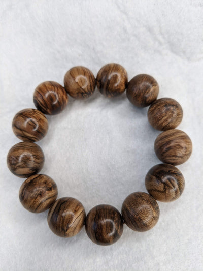 Beads Black Scars - Borneo Wild Agarwood Bracelet 13 beads 30g  18mm
