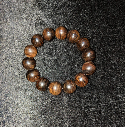 SOLD Customised sinking agarwood beads: The Descending Treasure Wild Agarwood Bracelet 32g 16mm 14 beads - Grandawood- Agarwood Australia
