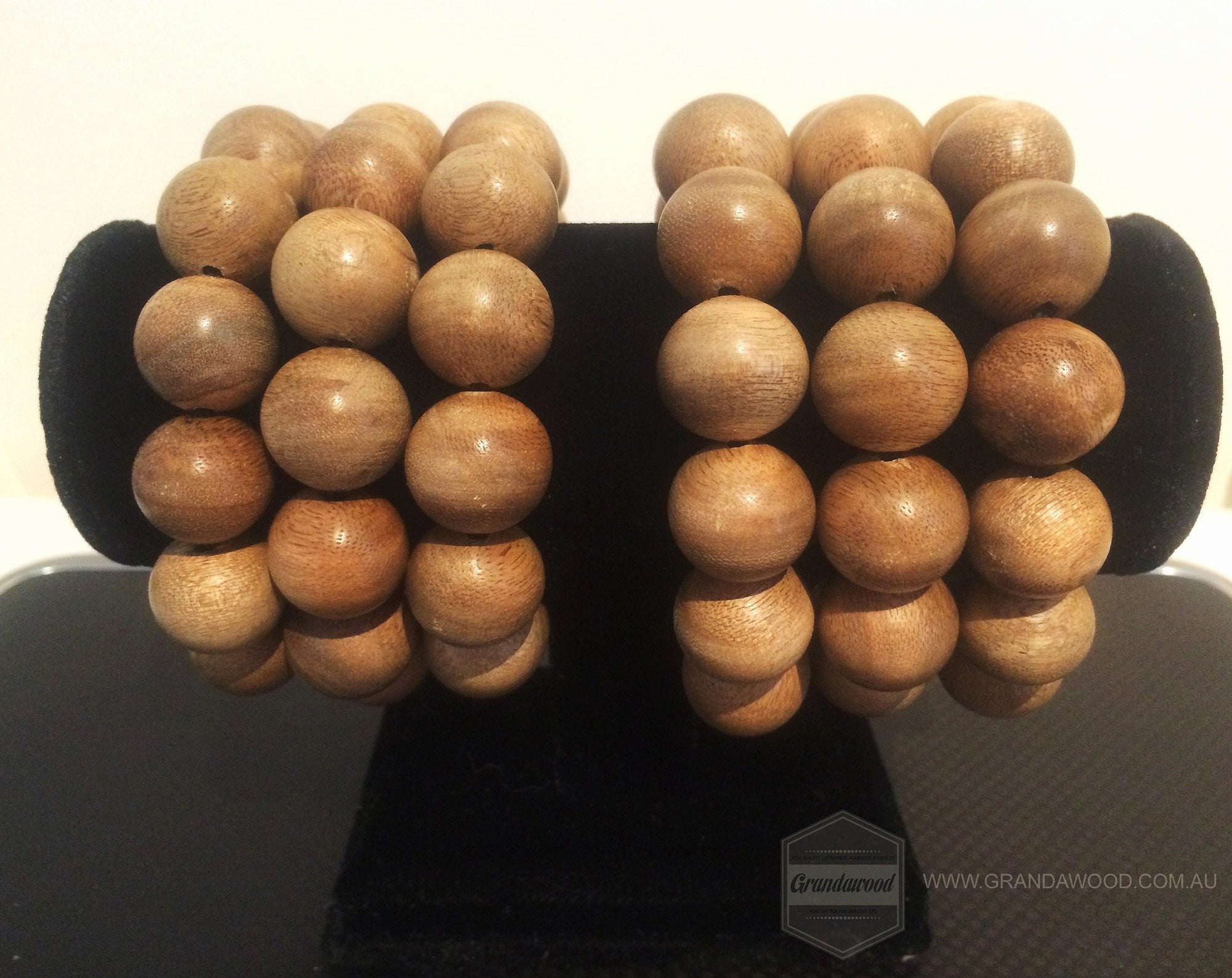 Beads Natural Wild Young Agarwood Bracelet Polished