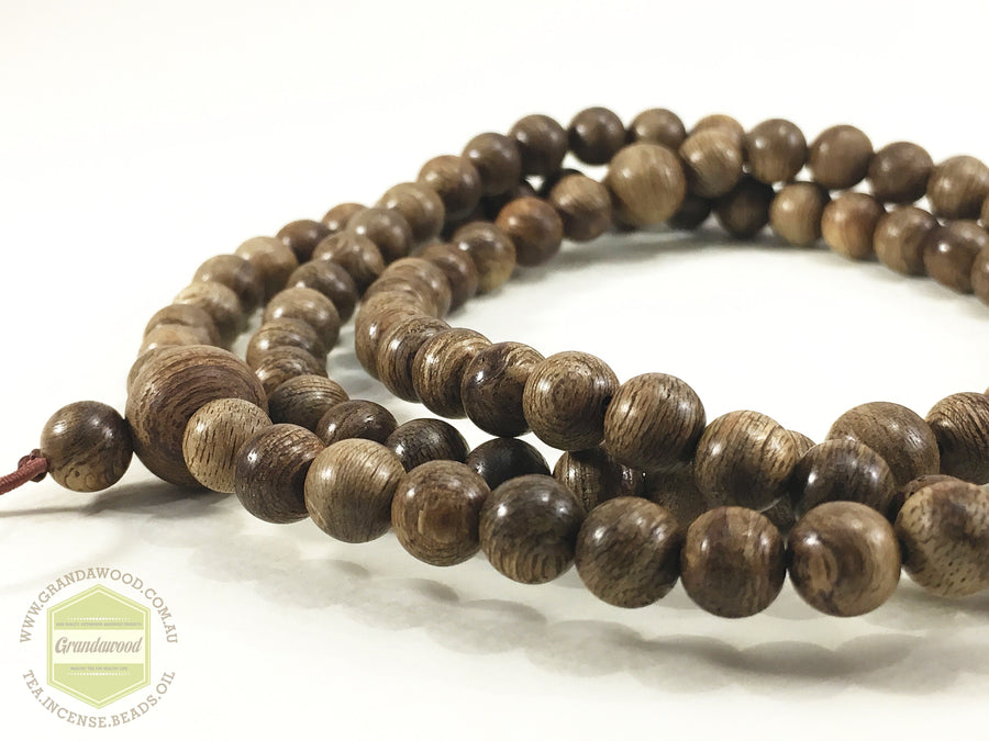 Beads *New* 108 Mala Wild Agarwood East Kalinmantan 6mm 13g