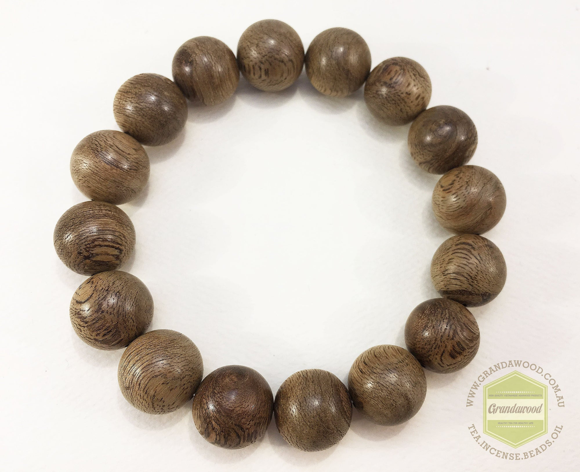 Beads *New*  East Kalimantan Wild Agarwood Bracelet 14mm 16.5g